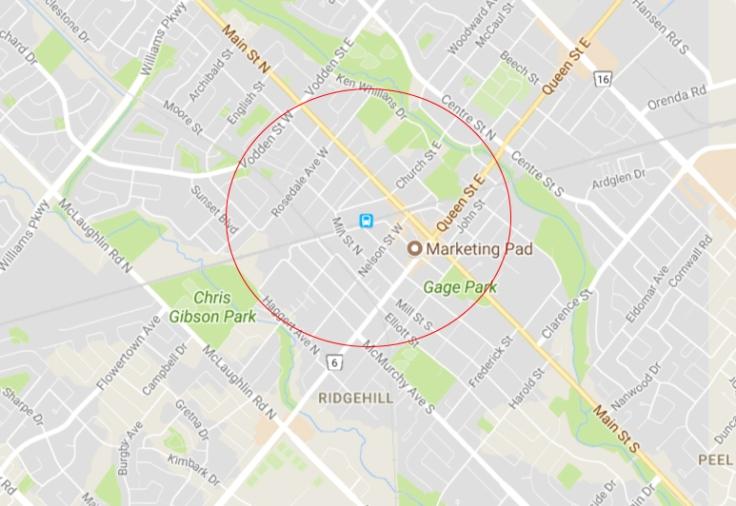 the 800 meter radius myth